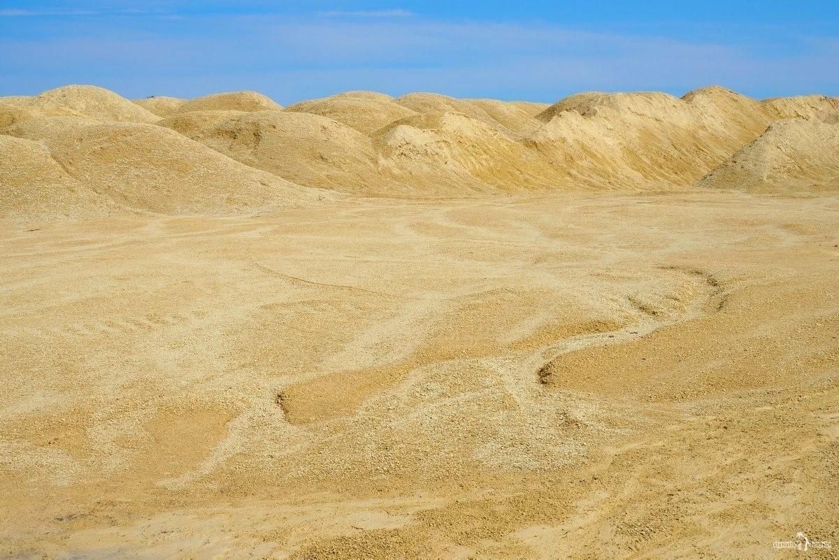 Пустынный пейзаж плато террикона