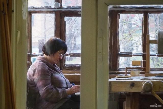 Интерьер дома-музея Циолковского. Веранда-мастерская