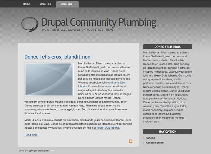 Шаблоны тем Drupal для блога