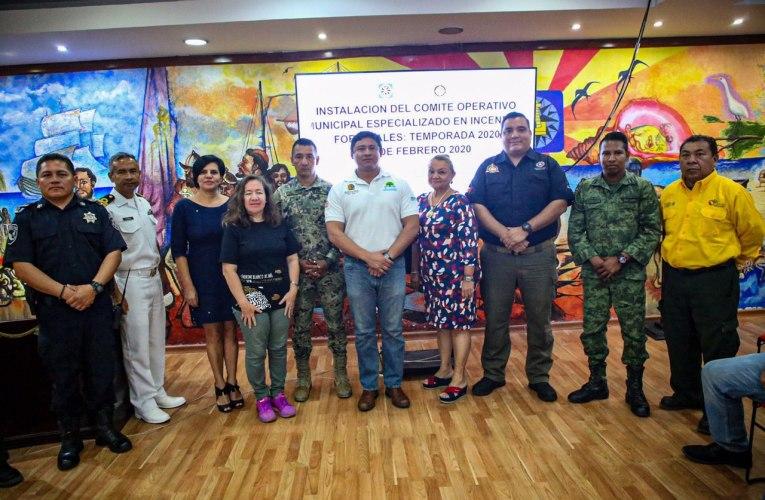 """Instalan en Isla Mujeres el """"Comité Especializado en Incendios Forestales Temporada 2020"""""""
