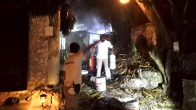 Photo of Se incendia palapa del Hotel Diamante K en Tulum