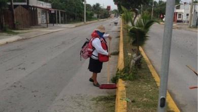Photo of Trabaja Servicios Públicos de Isla Mujeres en limpieza de calles y avenidas de Rancho Viejo