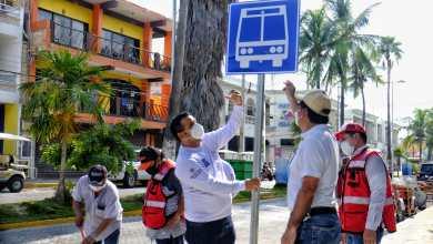 Photo of Instala Ayuntamiento paraderos de transporte público en Isla Mujeres