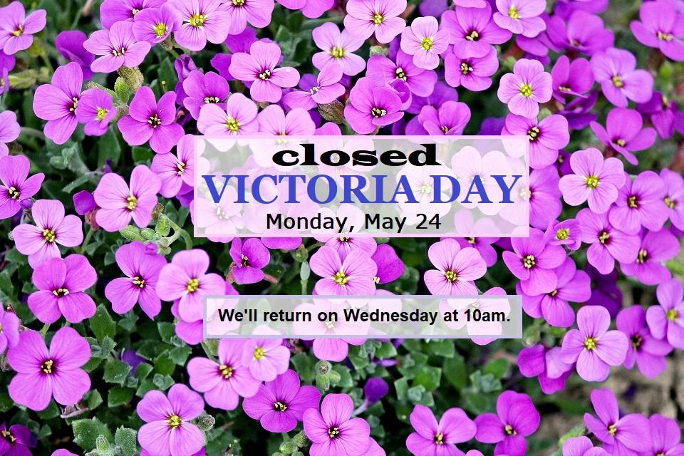 closed victoria day