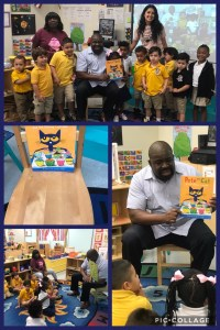 principal reading to students