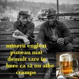 mineri sare in bere contra crampelor