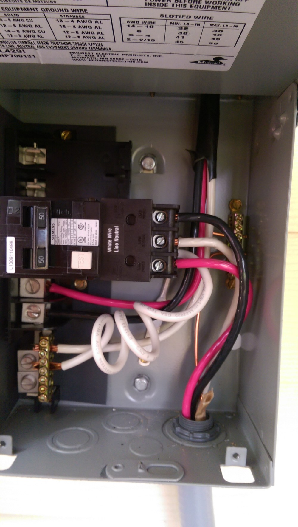 medium resolution of 220v electrical connection