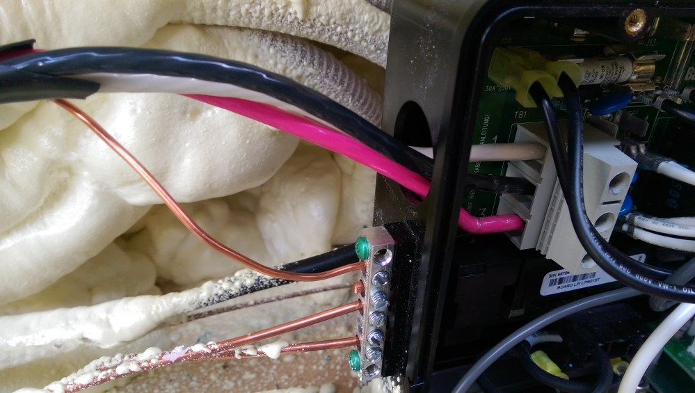 medium resolution of when the balboa control box was opened a smashed cable that goes to the top side control panel was found this had to have happened at the factory when the