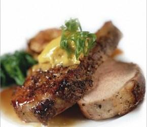 Mustard Glazed Pork Chops