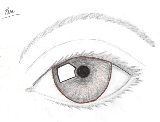 MWM found a great youtube video teacher who taught her how to draw an eye :)