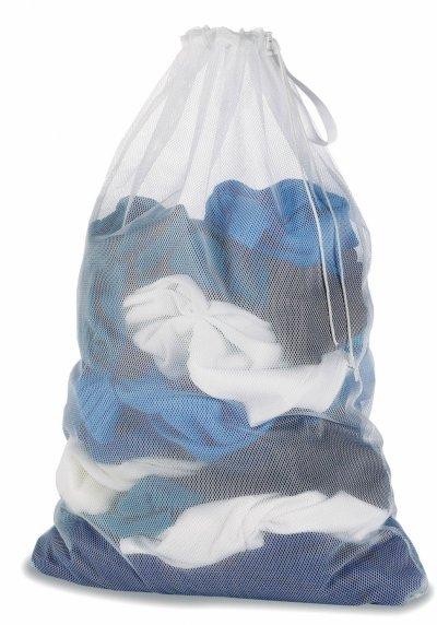 Whitmor 6154-111 Mesh Laundry Bag, White