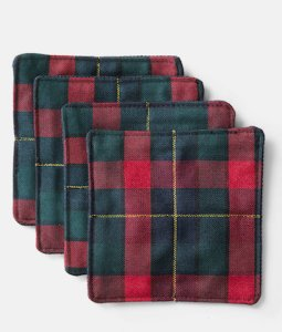 Flannel Coasters! (on sale now + 15% cash back at Jack Spade)