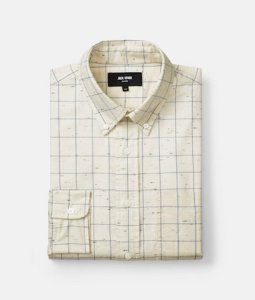 Parrish Flecked Windowpane Shirt on sale now + 15% cash back at Jack Spade