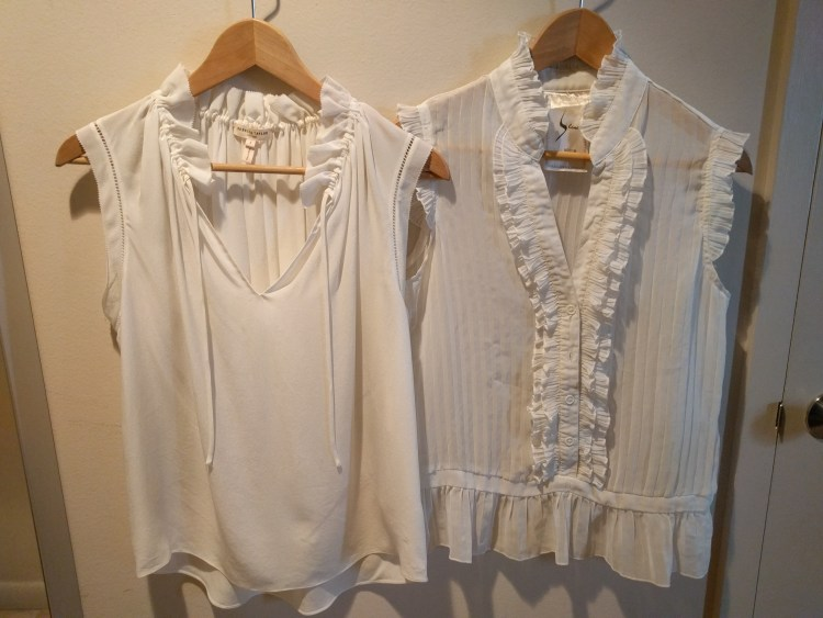 white blouse side by side