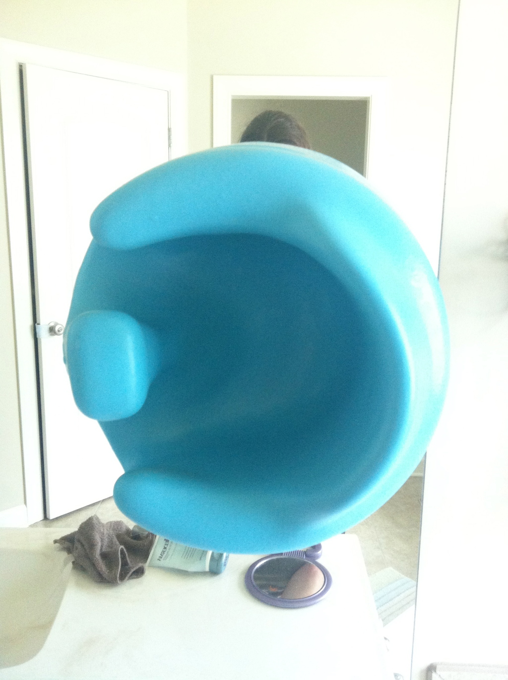 bumbo chair accessories teak shower chairs turn your into a bath seat sugru