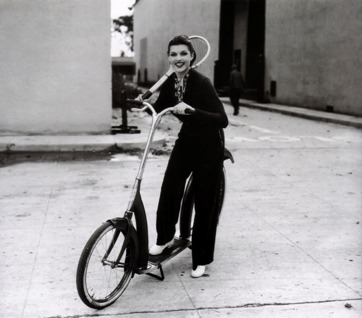 Rita Hayworth on scooter