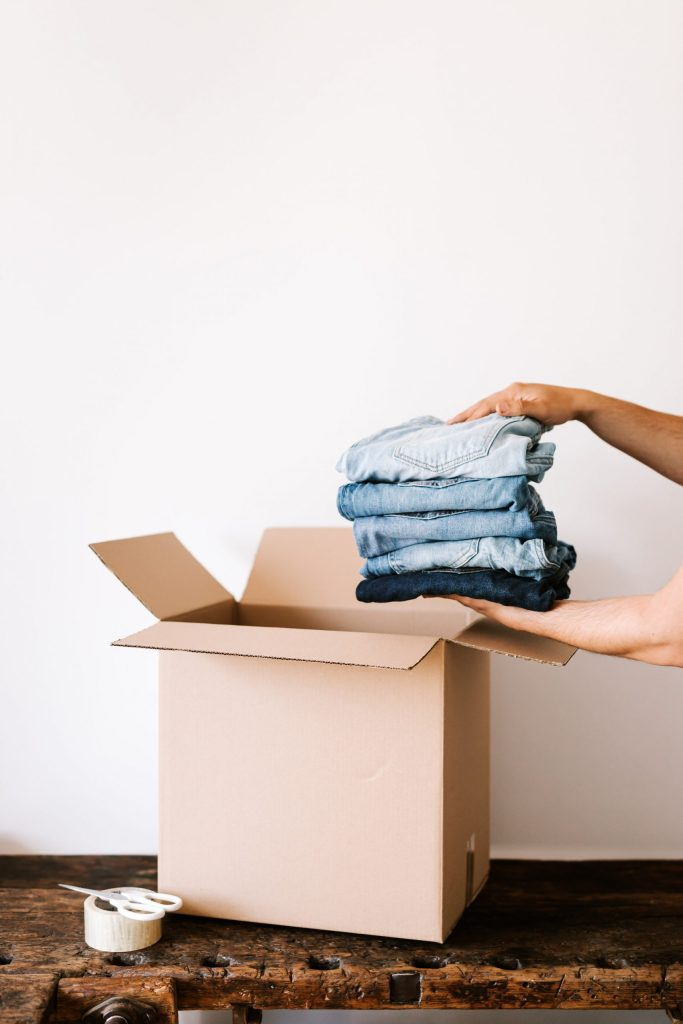 cleaned clothes delivery