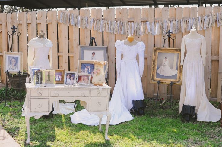 """""""Dry Cleaning By Dave"""" Display Vintage Gowns At Your"""