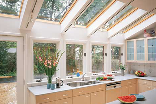 kitchen skylights cabinets design with islands custom and replacement domes dryco velux
