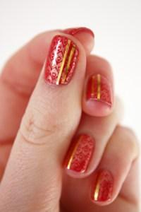 Nail art tape and stamping nail art   Dry, Dammit!