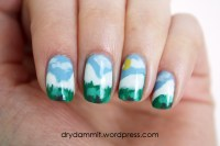 The Cuteberry Nail Challenge day 6: Winter nails   Dry ...