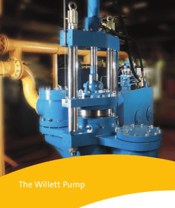Willet Positive displacement pumps