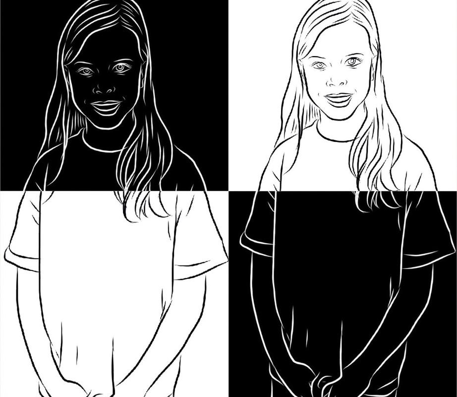 Positive and Negative Portrait Appsmash  Dryden Art