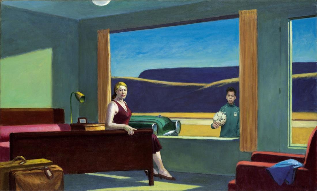 Photobombing Edward Hopper Paintings  Dryden Art