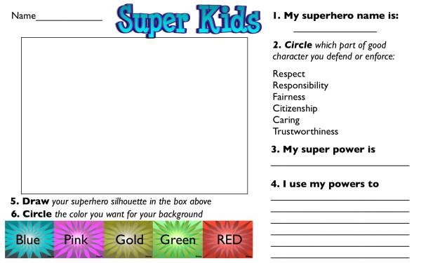Superhero Printable Joy Studio Design