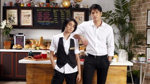 Kris Bernal and Aljur Abrenica in Coffee Prince Philippines