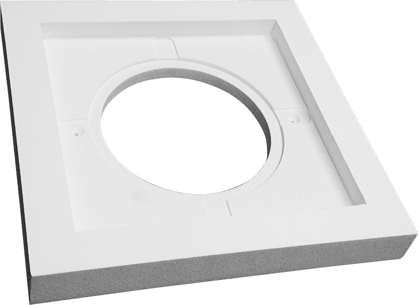 azek mounting block for dryer wall vents