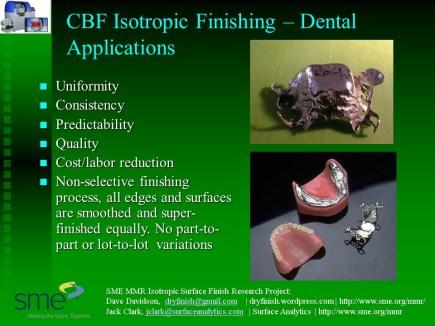CBF Dental Applications