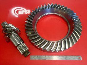 red background gear and pinion