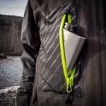 DRYFT Primo jacket flask pocket