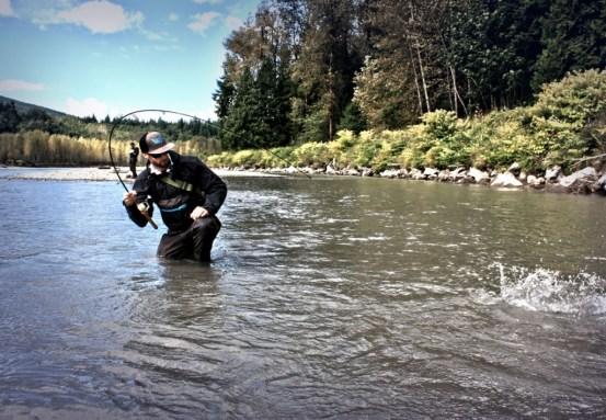 DRYFT fishing waders salmon fishing - fish porn
