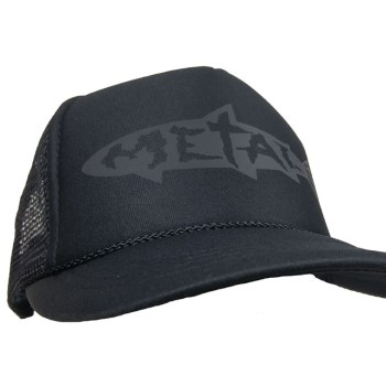 blackout metal trucker