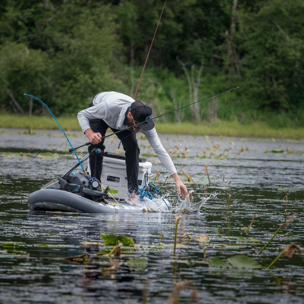 fishing from a standup paddleboard