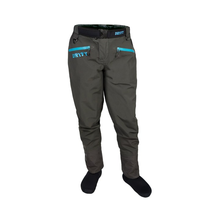 DRYFT women's Session wading pants front 2