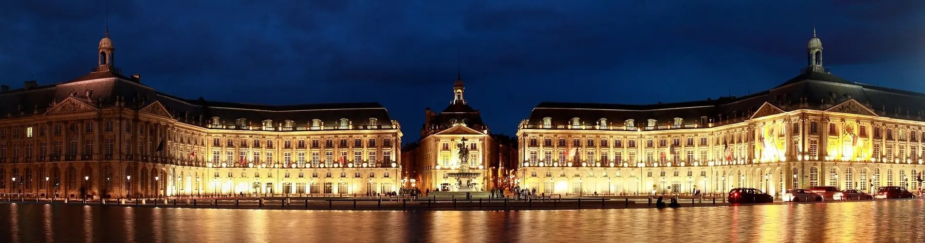 Bordeaux city by night