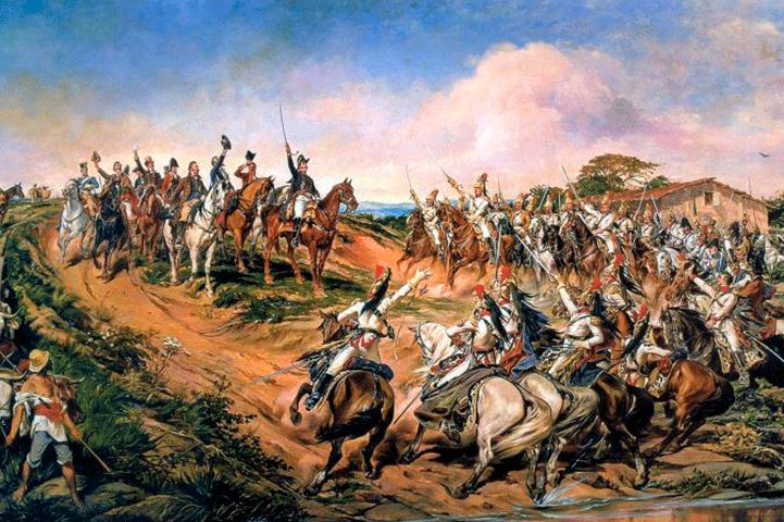 Pintor Pedro Américo, termina o quadro em Florença Itália - 1888