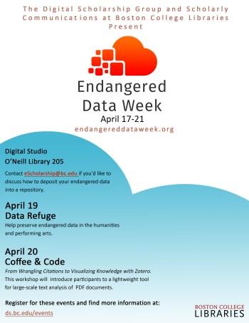 Endangered Data Week Poster