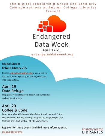 Endangered Data Week Poster