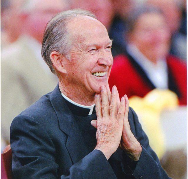 J. Donald Monan at a tribute to Fr. Marrow, May 1, 1996.