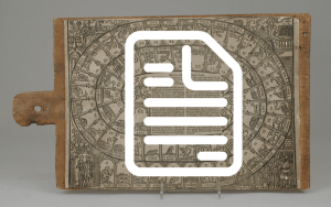Graphic of a document icon over a digitized game board.