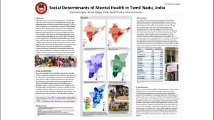 Poster about Social Determinants of Mental Health in Tamil Nadu, India