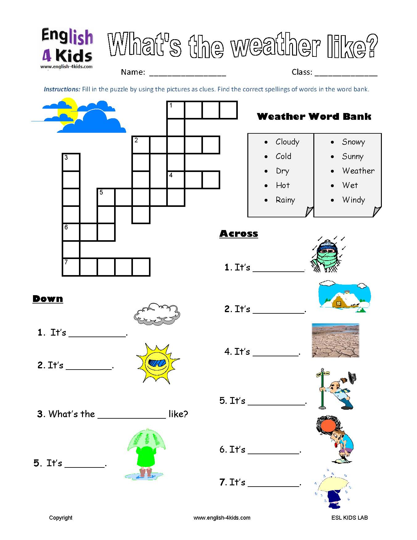Lesson Plan Grade For 3 Weather