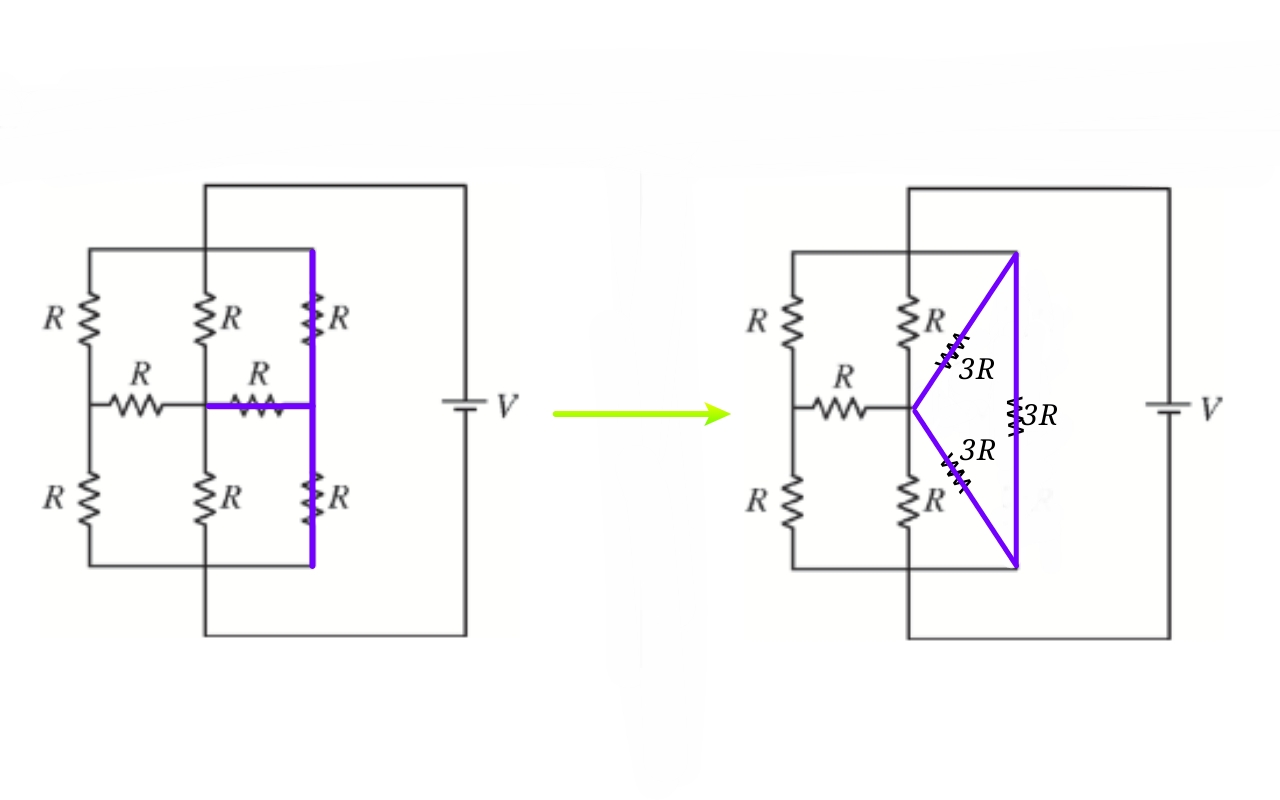 in order to solve this question we will transform the circuit and apply the formula side by side  [ 1200 x 750 Pixel ]