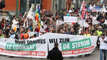 Des milliers de manifestants à Bruxelles pour des alternatives à l'austérité