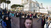 Das Porträt von Greta Thunberg Brandi in Rom