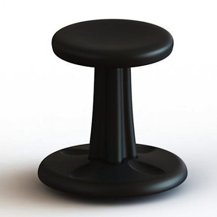 portable wobble chair exercises white spandex covers bulk kids kore 14 active sitting gross motor black